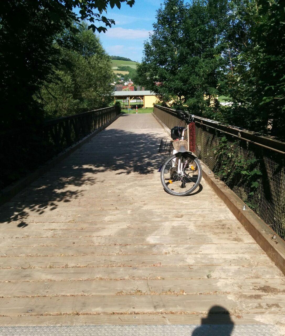 Tauberbrücke Unterbalbach nach Unwetter 11.06.2018