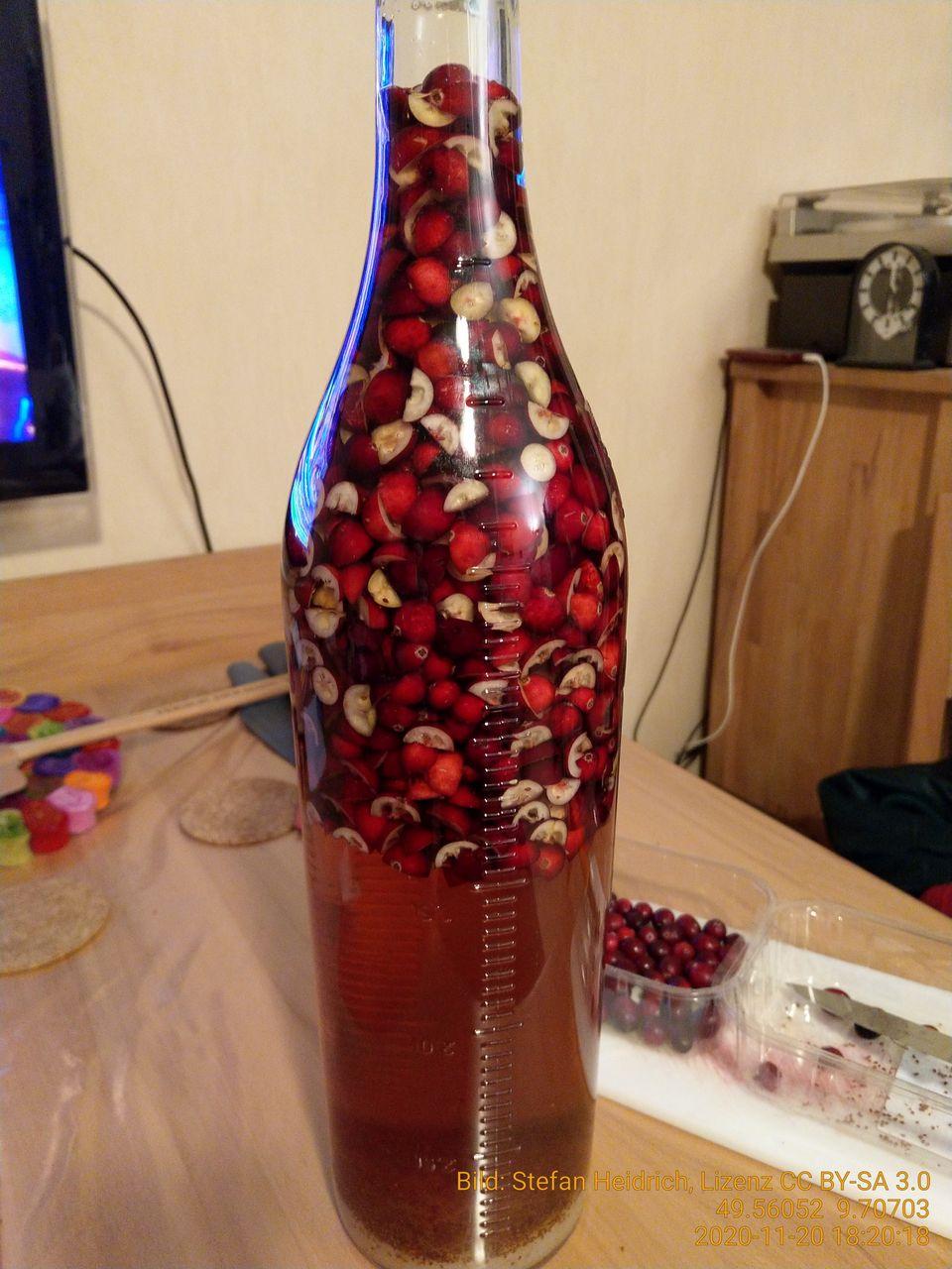 Rezept Cranberry Likör